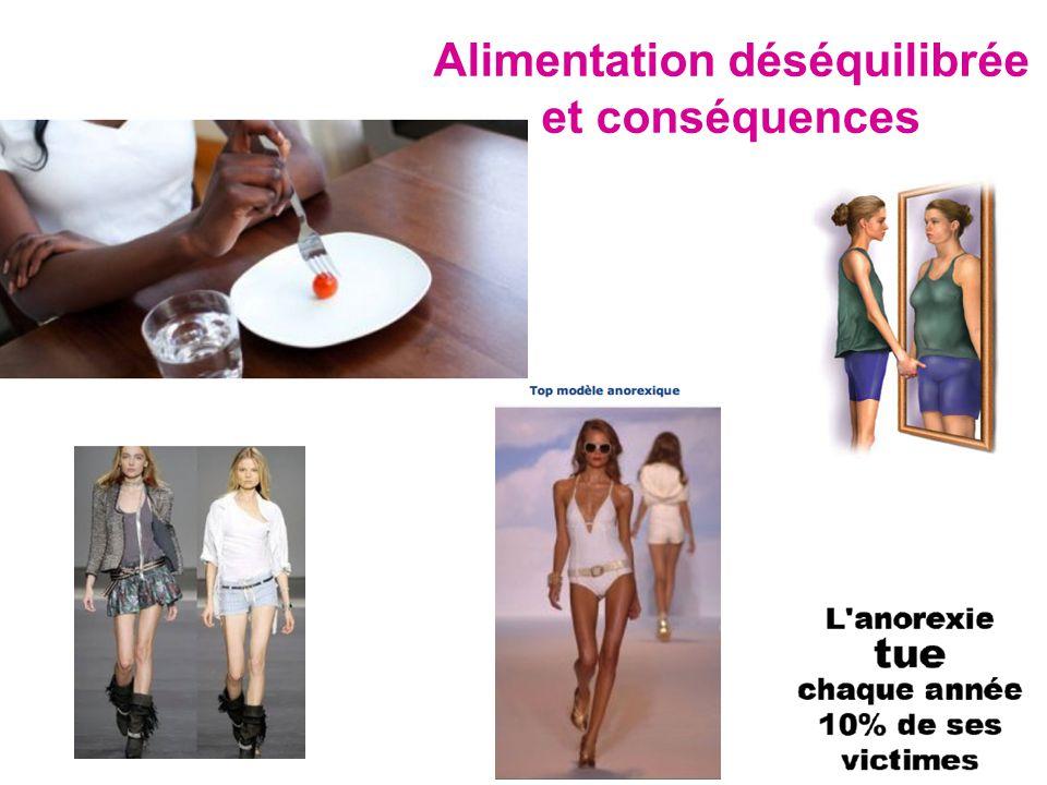Alimentation déséquilibrée et conséquences