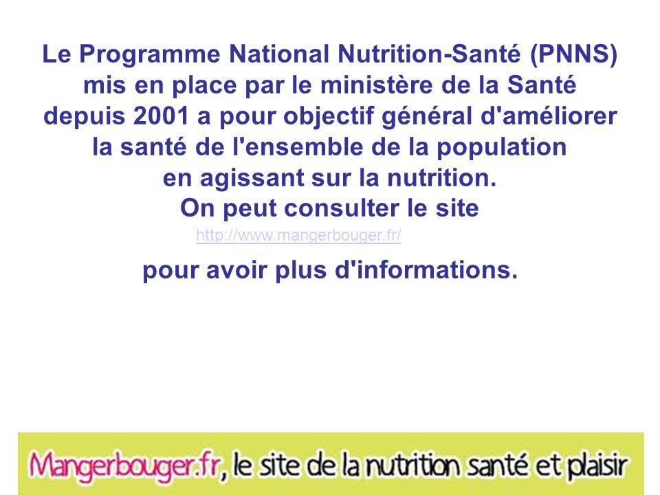 Le Programme National Nutrition-Santé (PNNS)