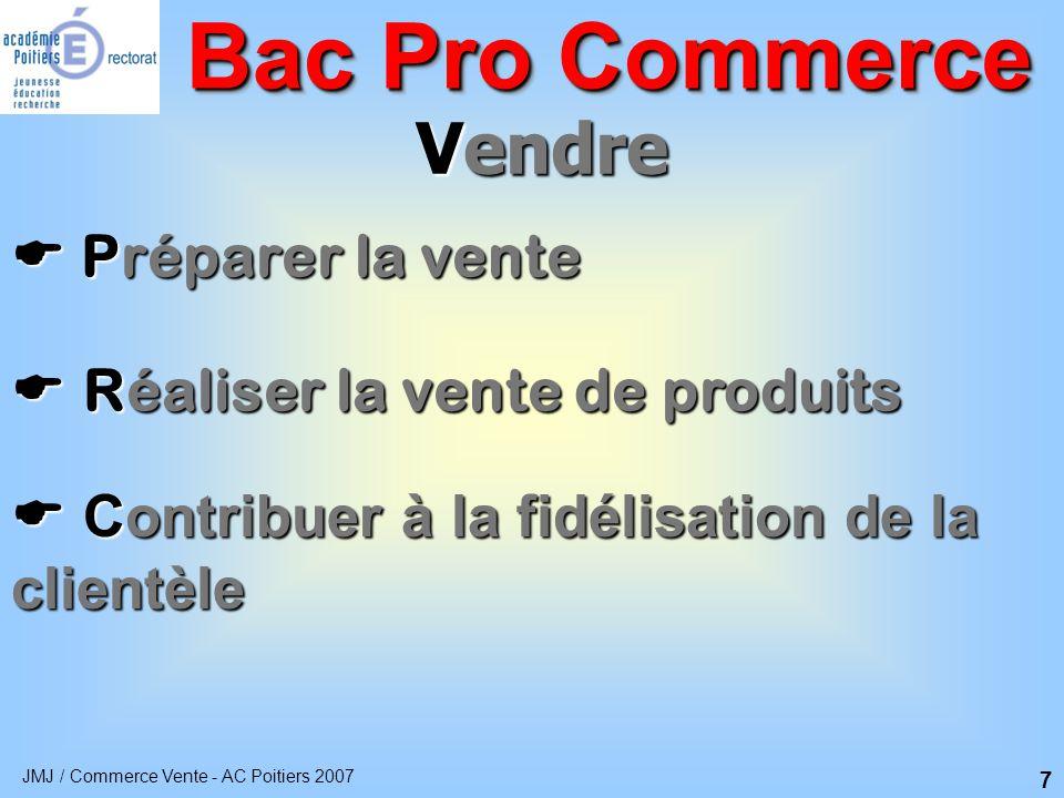 Bac Pro Commerce Vendre  Préparer la vente