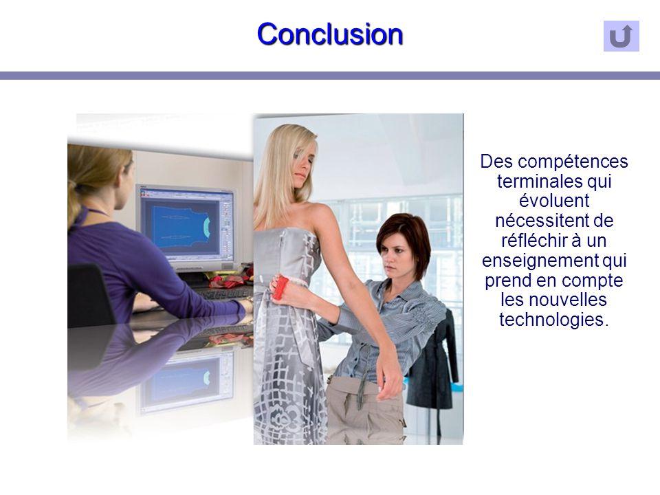 Conclusion Des compétences terminales qui évoluent nécessitent de réfléchir à un enseignement qui prend en compte les nouvelles technologies.