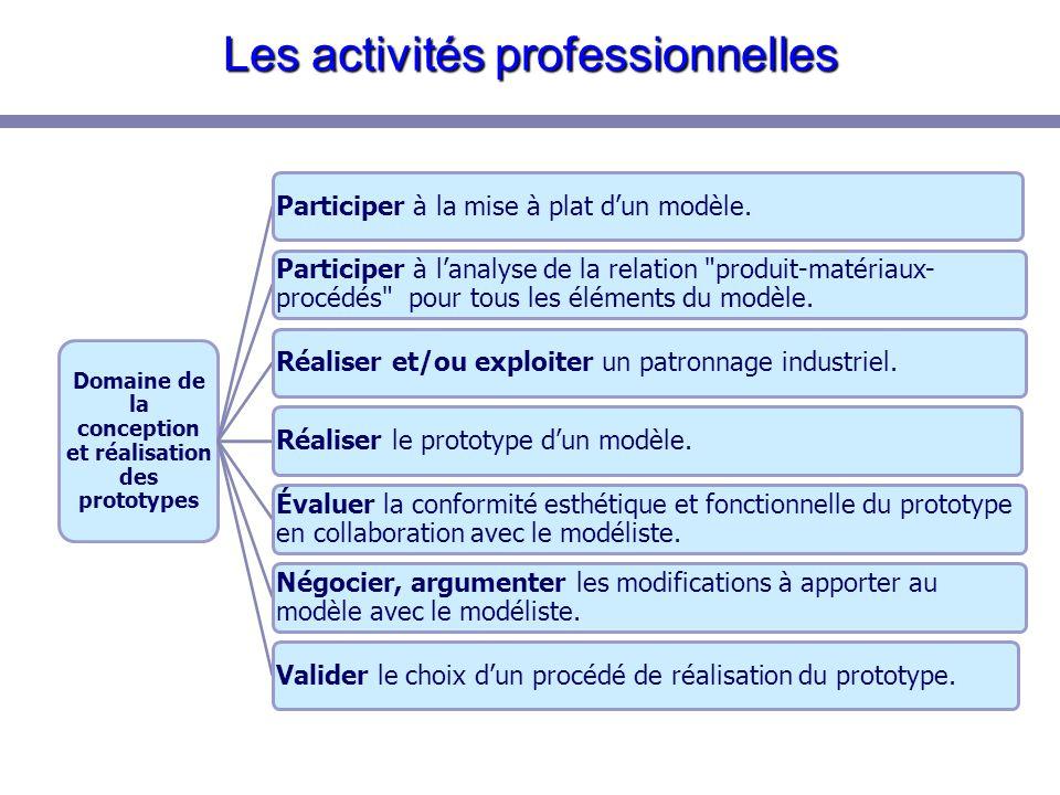 Les activités professionnelles