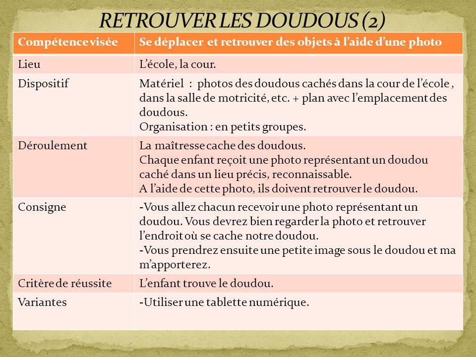 RETROUVER LES DOUDOUS (2)