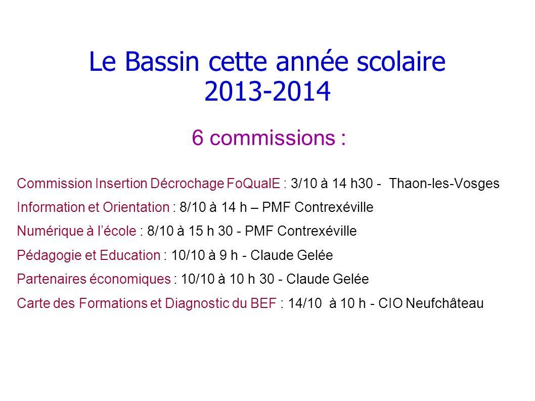 Le Bassin cette année scolaire 2013-2014