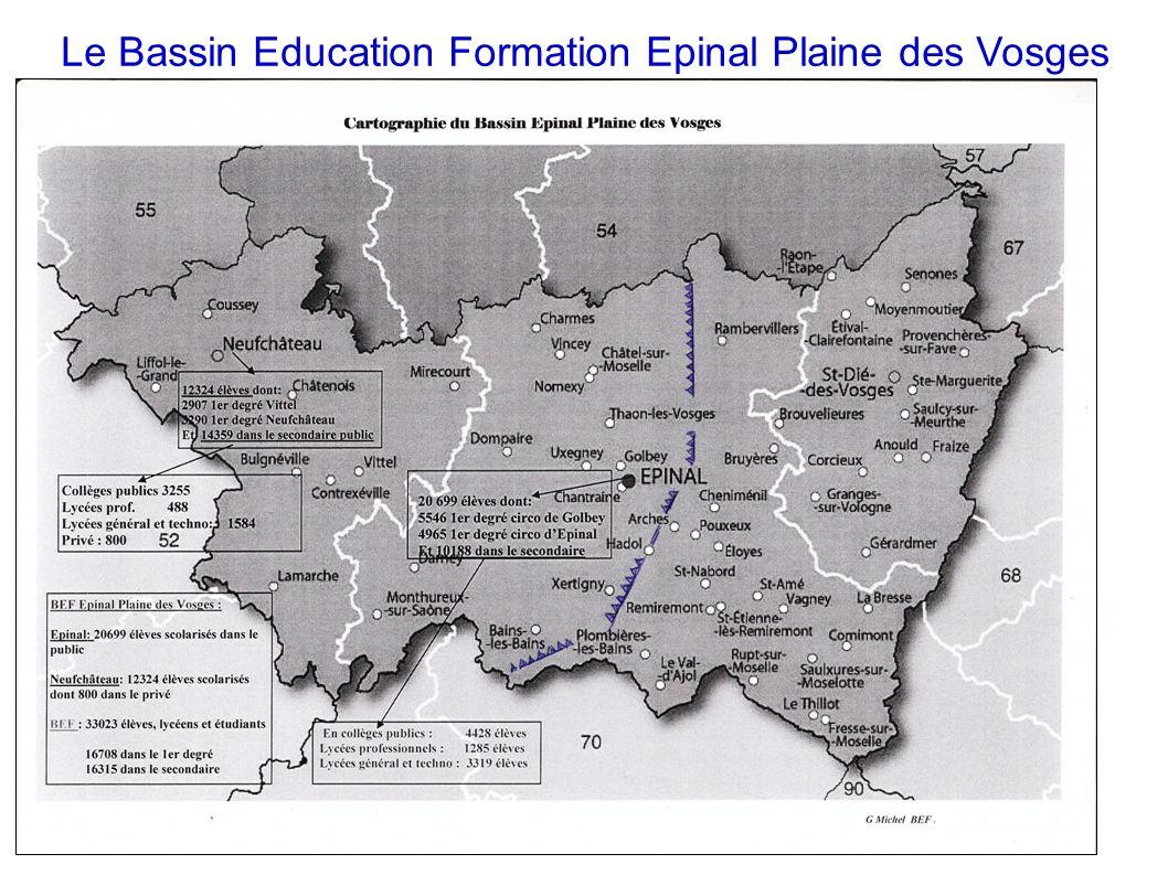 Le Bassin Education Formation Epinal Plaine des Vosges