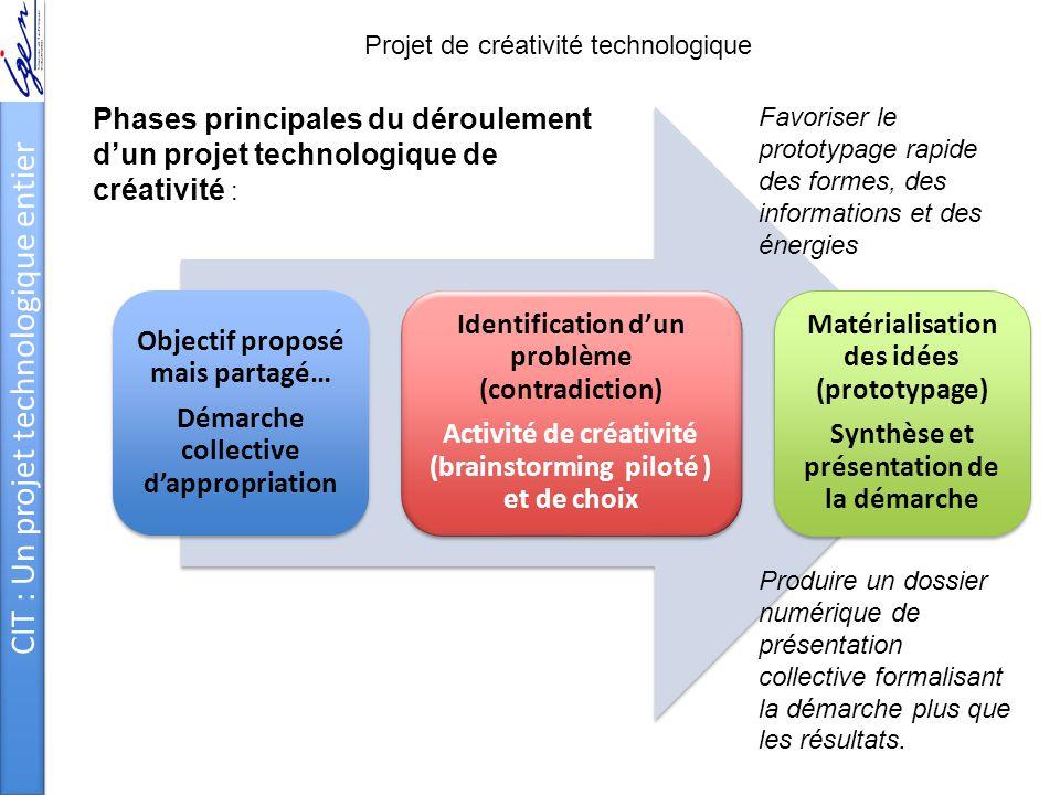 CIT : Un projet technologique entier