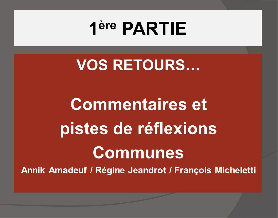 Annik Amadeuf / Régine Jeandrot / François Micheletti