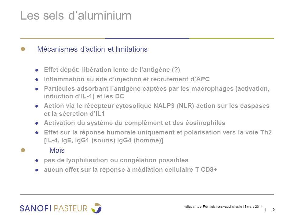 Les sels d'aluminium Mécanismes d'action et limitations Mais