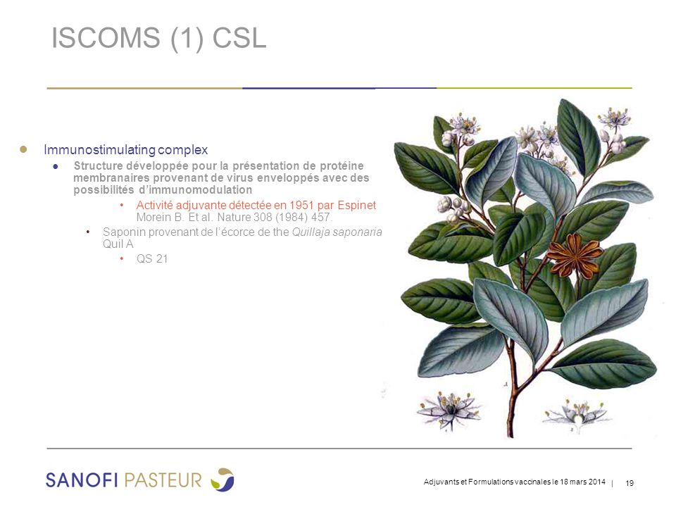 ISCOMS (1) CSL Immunostimulating complex