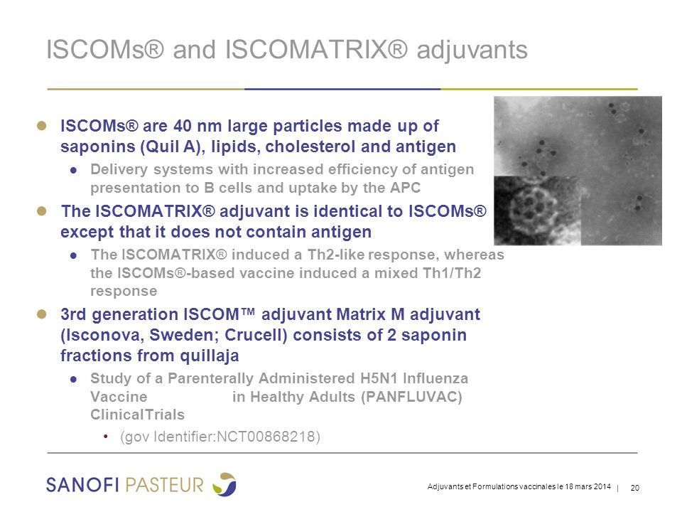 ISCOMs® and ISCOMATRIX® adjuvants