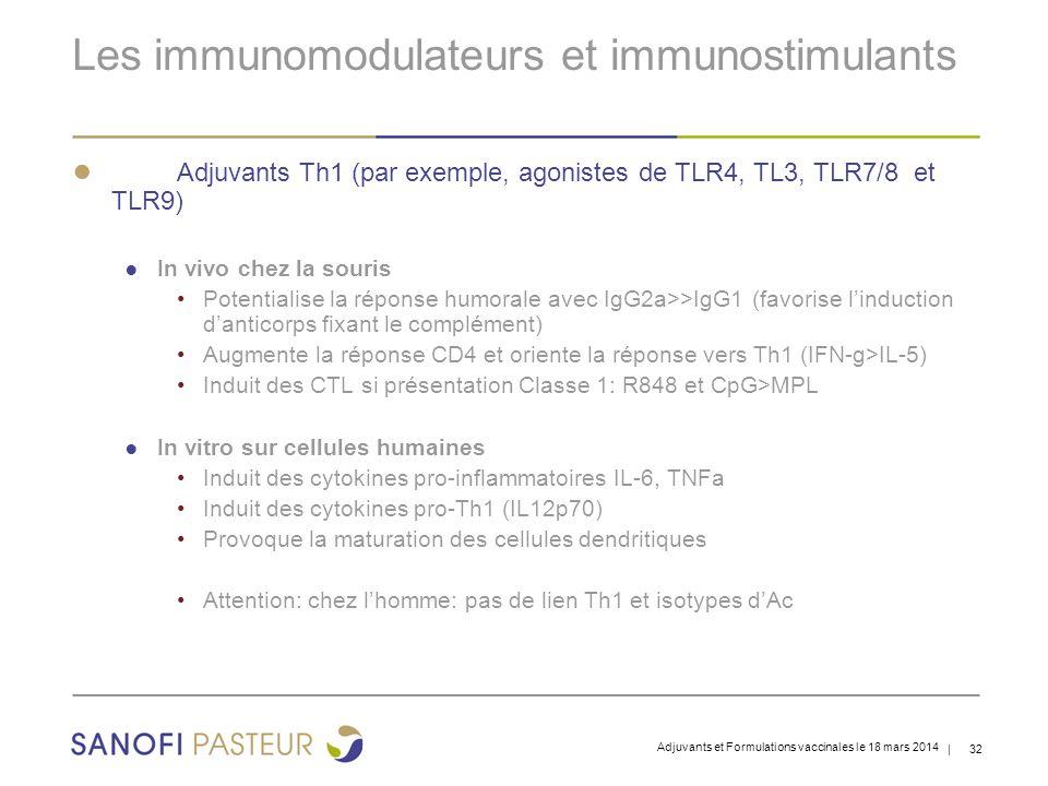Les immunomodulateurs et immunostimulants