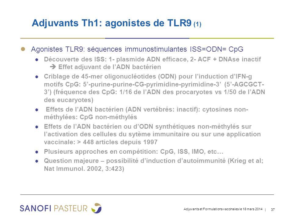 Adjuvants Th1: agonistes de TLR9 (1)