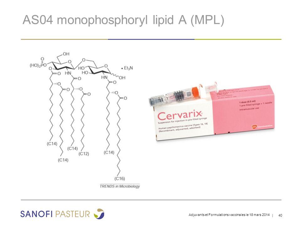 AS04 monophosphoryl lipid A (MPL)