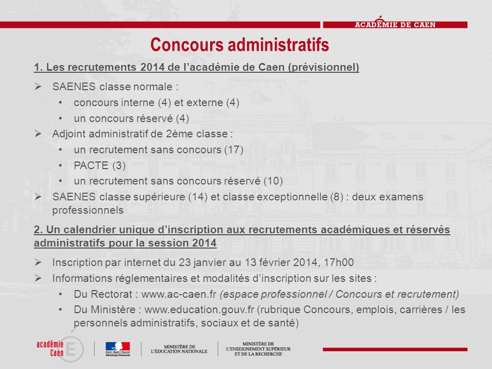 Concours administratifs