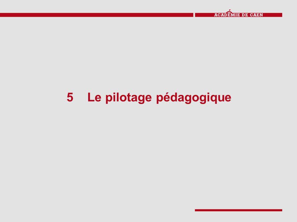 5 Le pilotage pédagogique