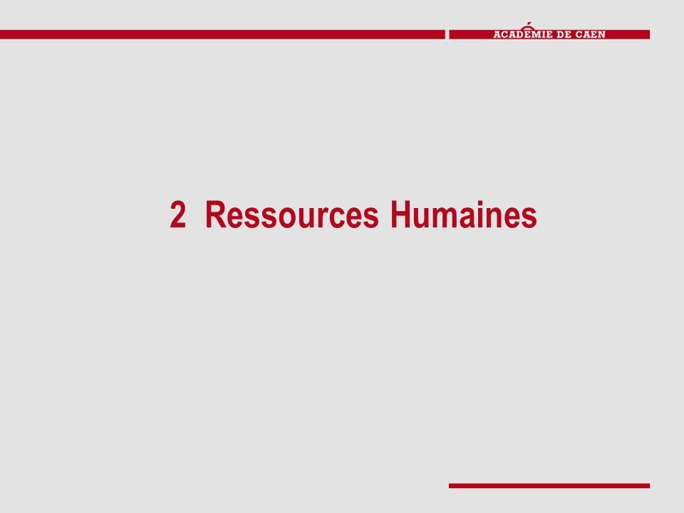 2 Ressources Humaines