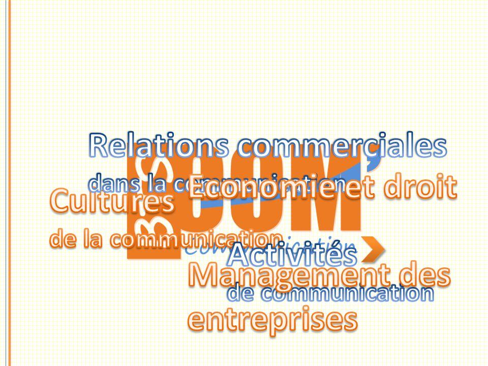 Relations commerciales Economie et droit Management des entreprises