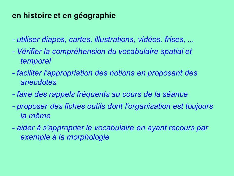 en histoire et en géographie