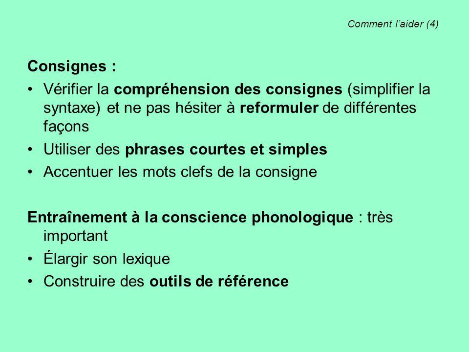 Utiliser des phrases courtes et simples