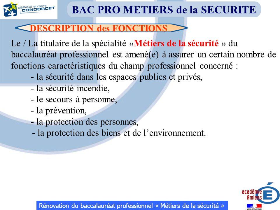 BAC PRO METIERS de la SECURITE