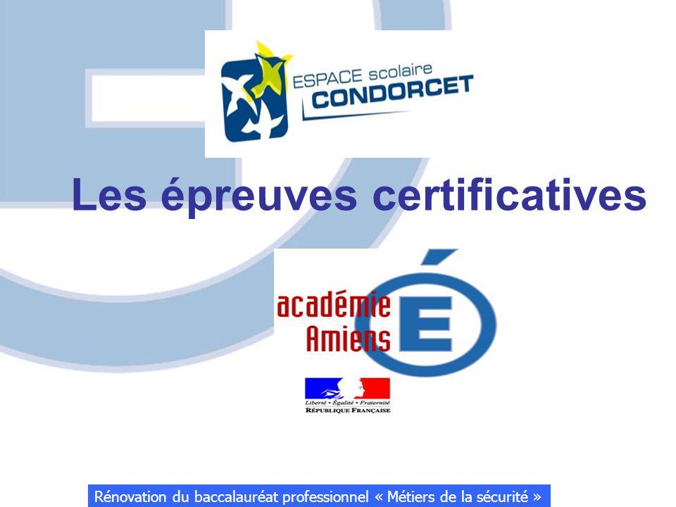 Les épreuves certificatives