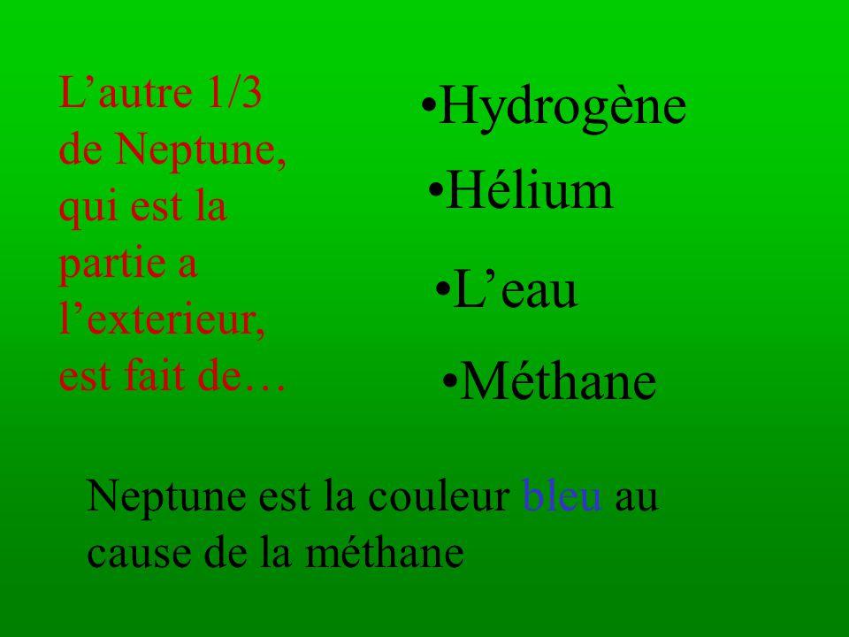 Hydrogène Hélium L'eau Méthane