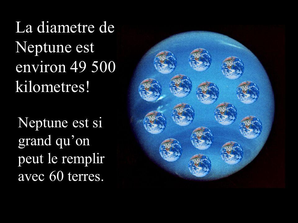 La diametre de Neptune est environ 49 500 kilometres!
