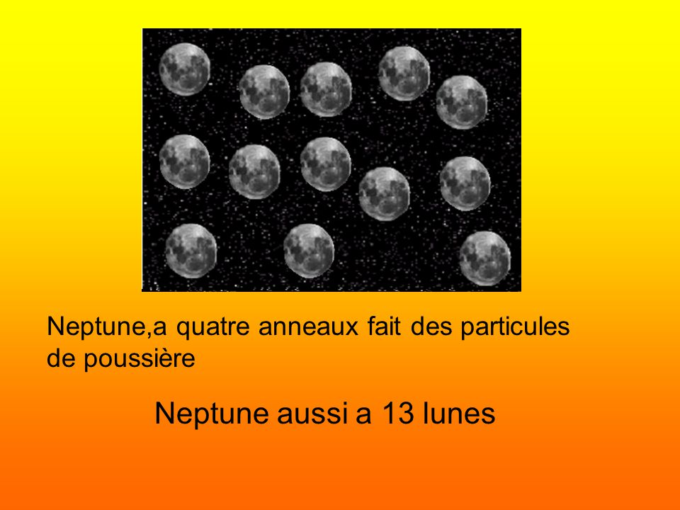 Neptune,a quatre anneaux fait des particules de poussière