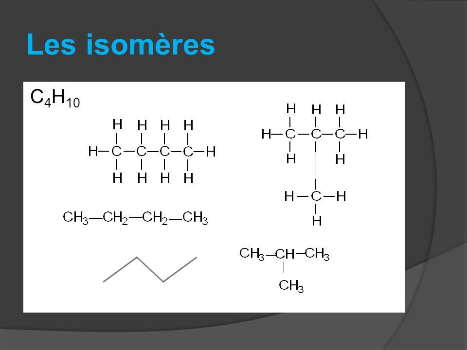 Les isomères C4H10