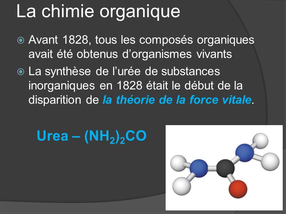 La chimie organique Urea – (NH2)2CO