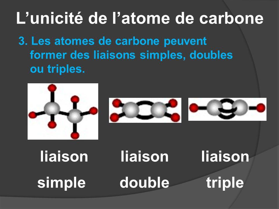 L'unicité de l'atome de carbone