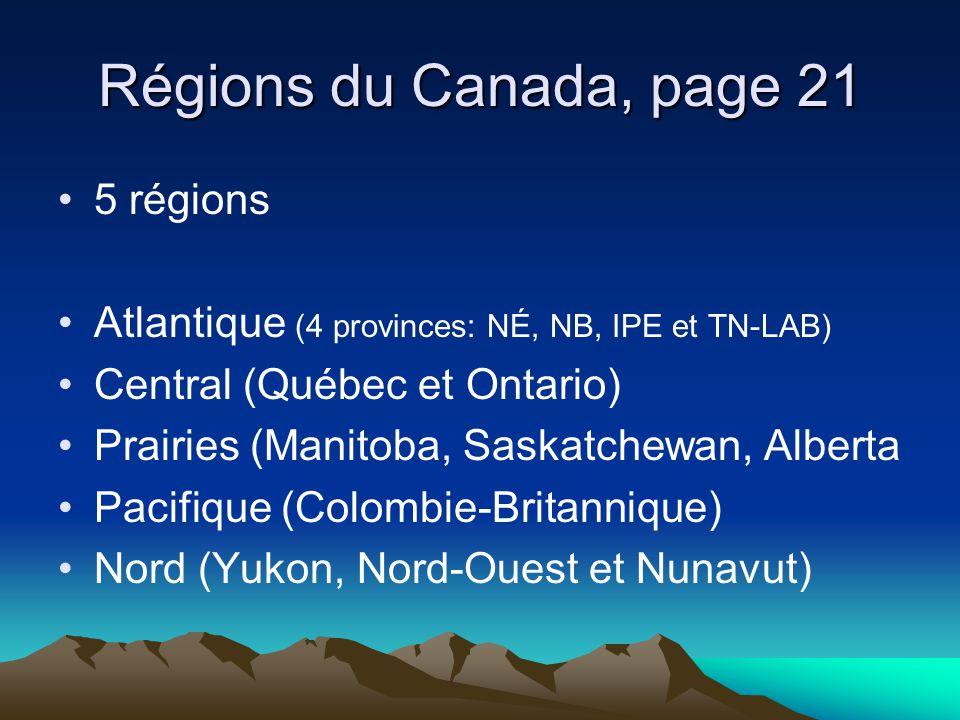 Régions du Canada, page 21 5 régions