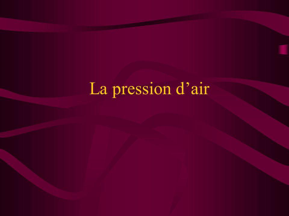 La pression d'air