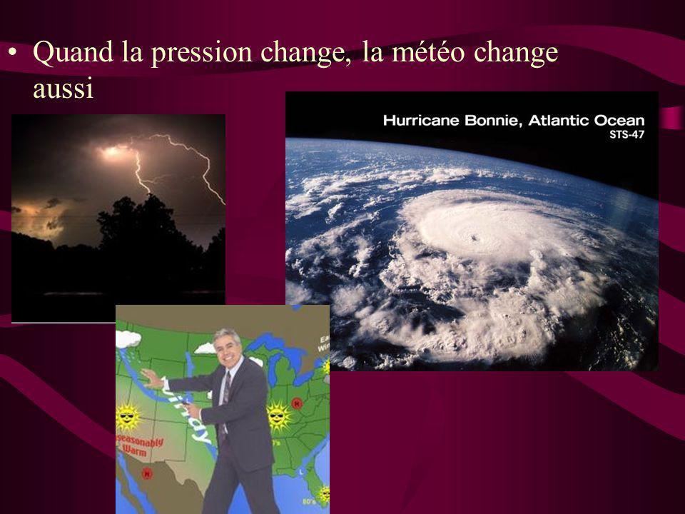 Quand la pression change, la météo change aussi