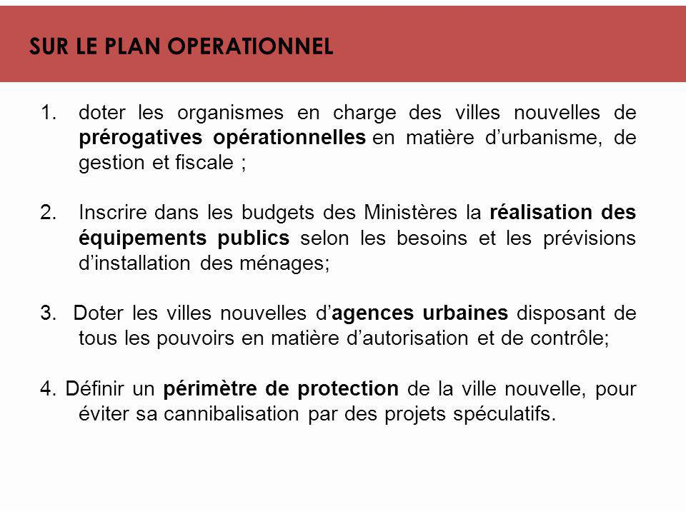SUR LE PLAN OPERATIONNEL