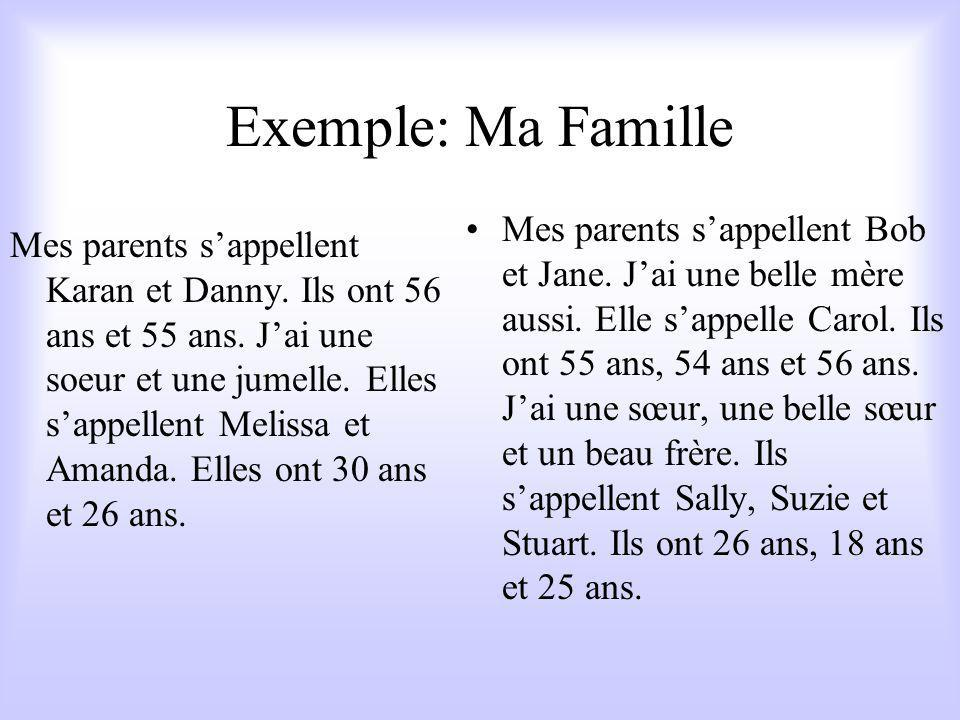 Exemple: Ma Famille