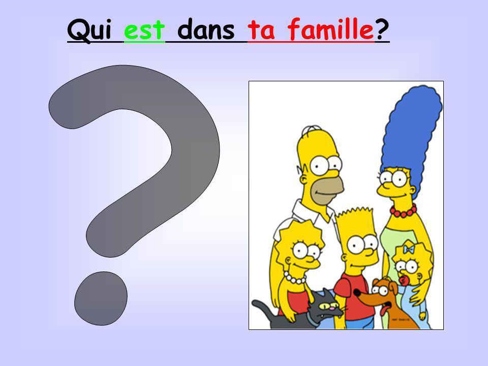 Qui est dans ta famille