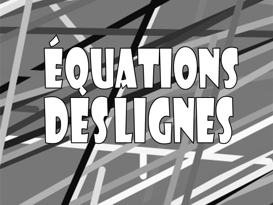 Équations des Lignes