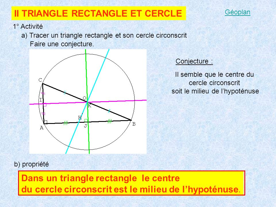 II TRIANGLE RECTANGLE ET CERCLE