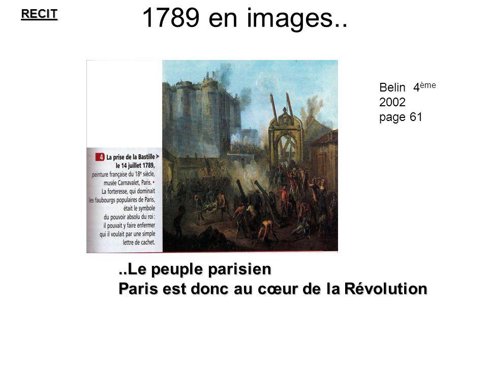 1789 en images.. ..Le peuple parisien