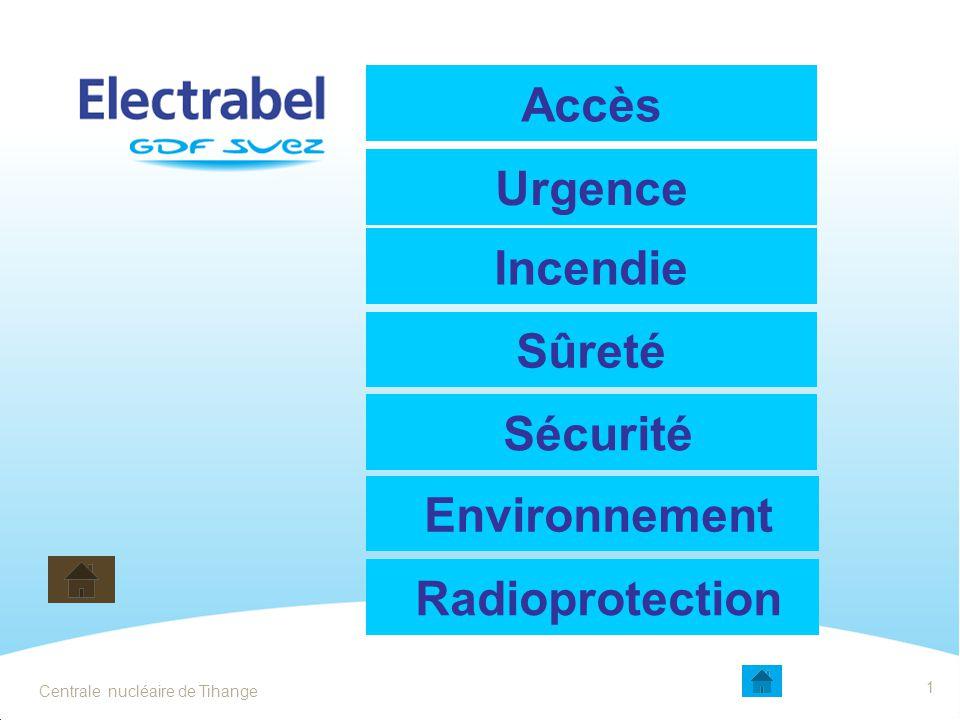 Accès Urgence Incendie Sûreté Sécurité Environnement Radioprotection