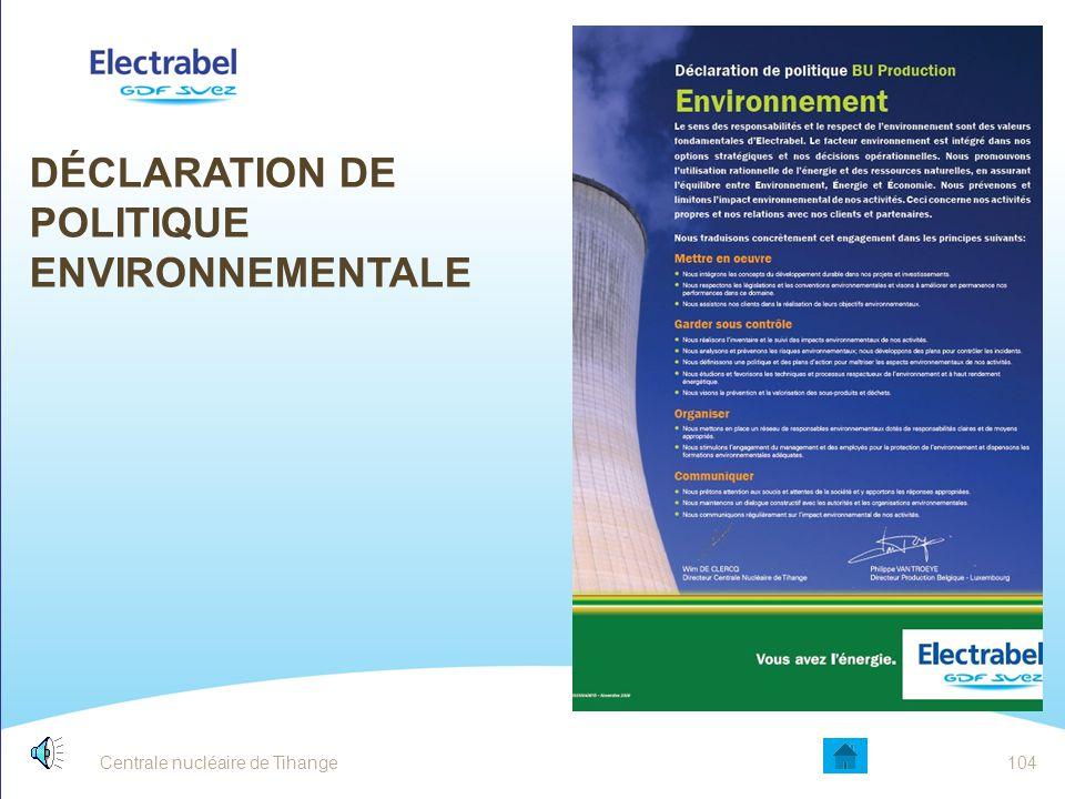 Déclaration de politique Environnementale
