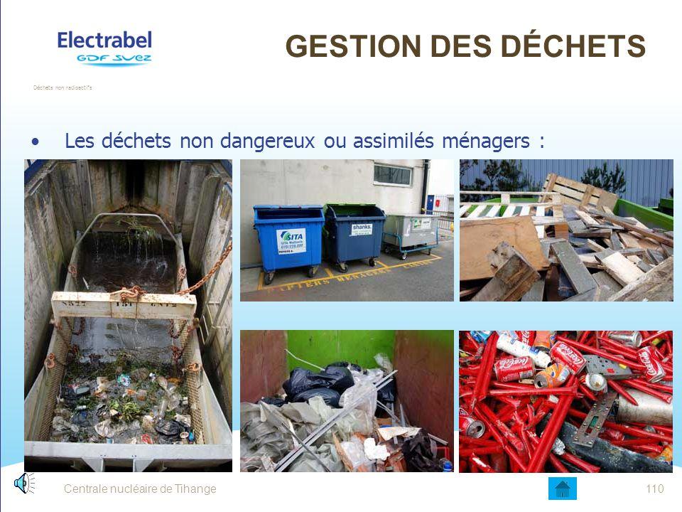 Gestion des déchets Les déchets non dangereux ou assimilés ménagers :