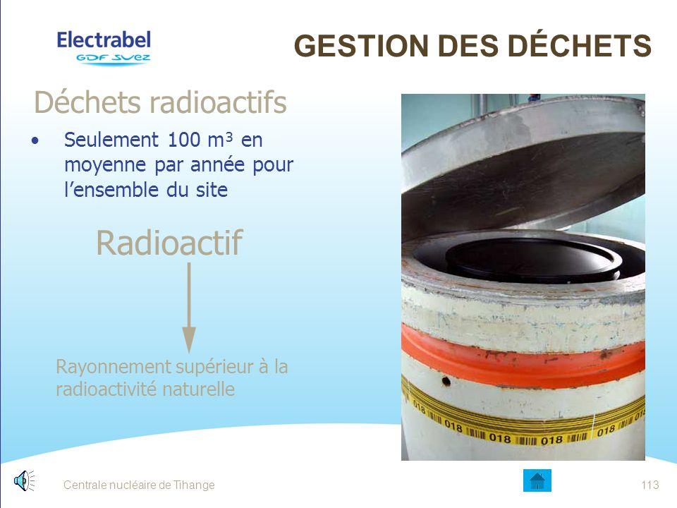 Radioactif Gestion des déchets Déchets radioactifs