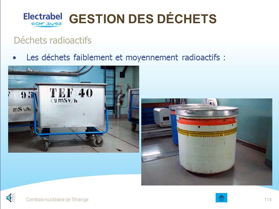 Gestion des déchets Déchets radioactifs