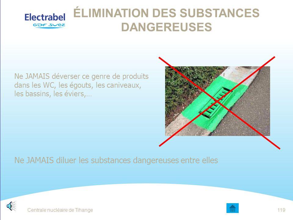 Élimination des substances dangereuses