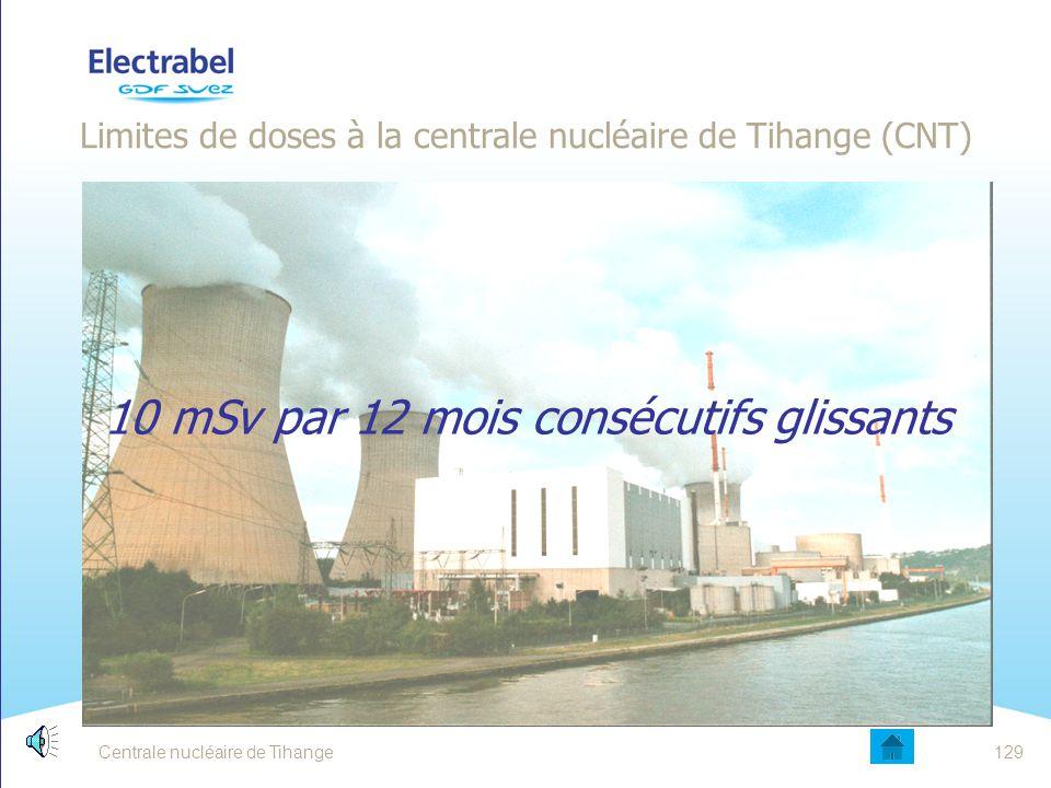 Limites de doses à la centrale nucléaire de Tihange (CNT)