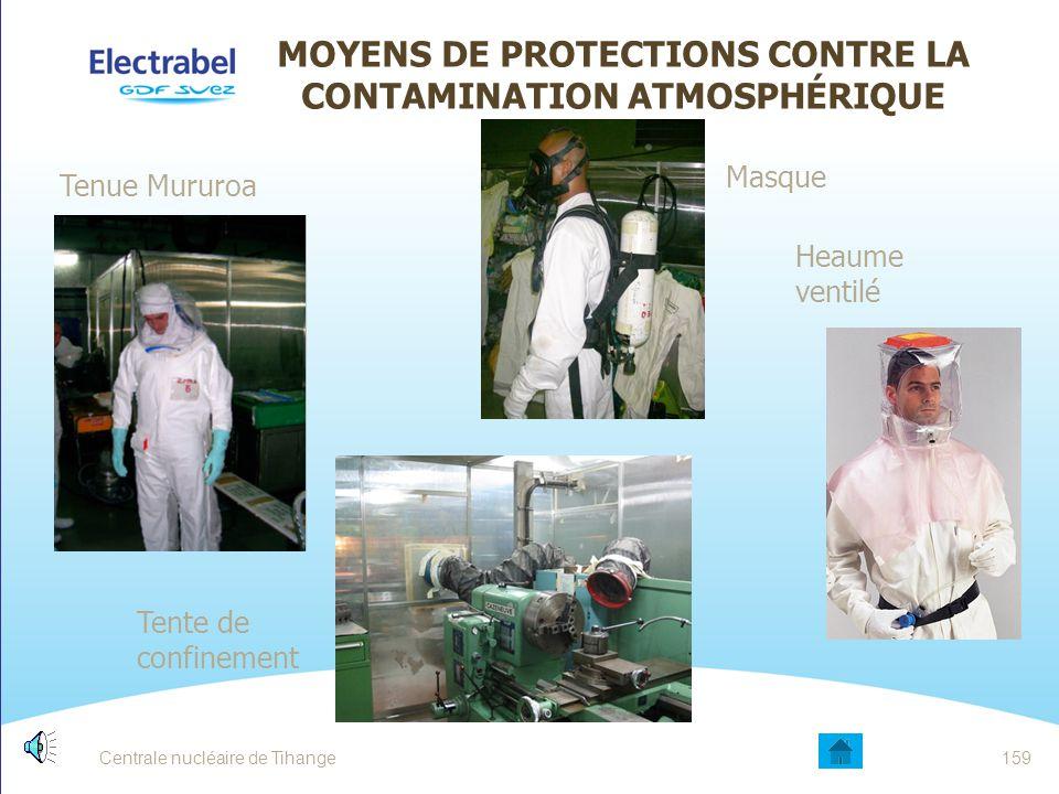 MOYENS DE PROTECTIONS CONTRE LA CONTAMINATION ATMOSPHÉRIQUE