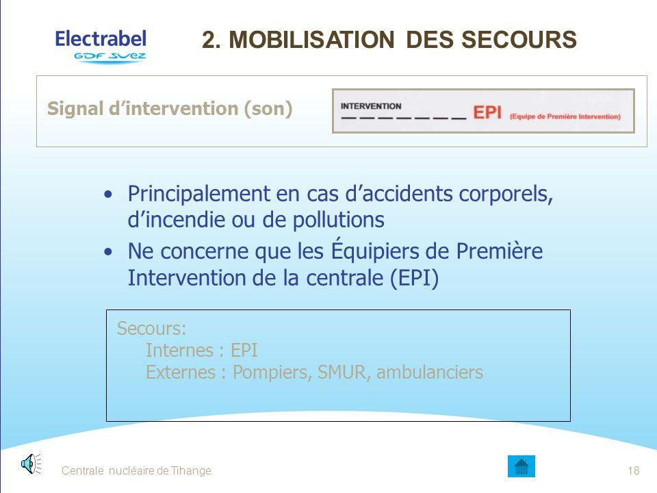 2. Mobilisation des secours