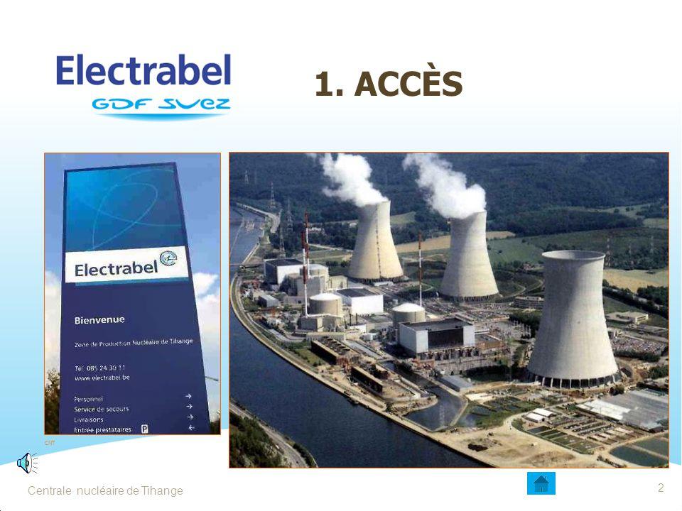 1. ACCÈS Date Entité - Sujet 2 Centrale nucléaire de Tihange