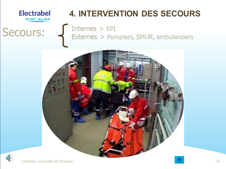 4. Intervention des secours